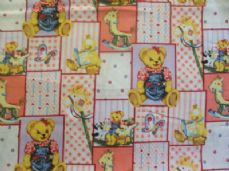 Nursery Bear Print 100% Cotton Fabric